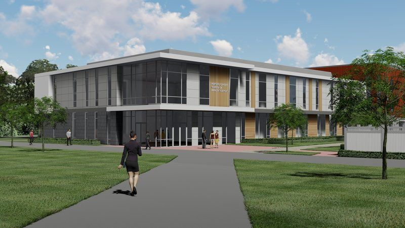 Merrimack College breaks ground on nursing center