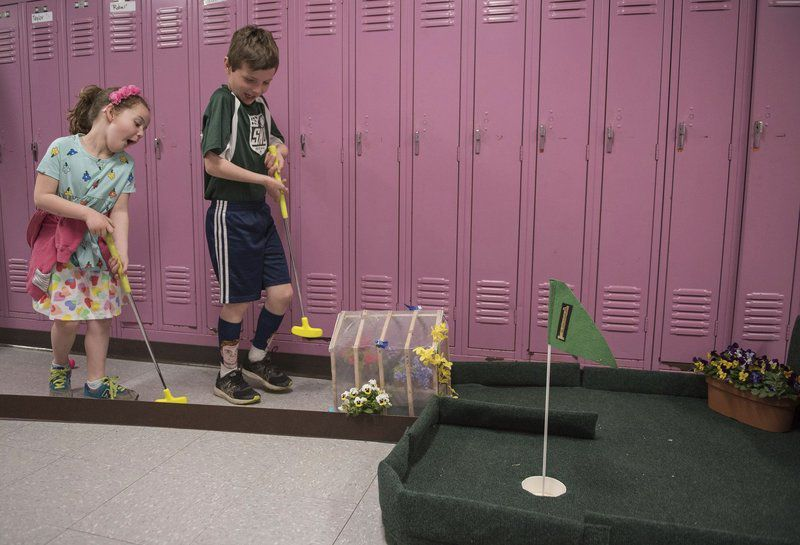 Mini-golf fundraiser held indoors at West El.