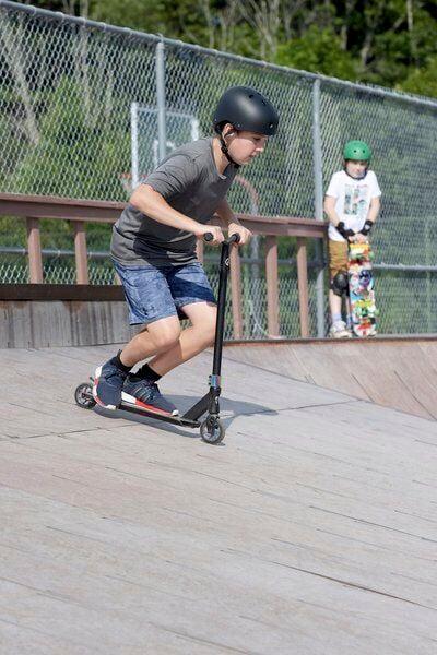 Skateboarding on a sunny afternoon