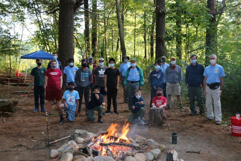 Scouts camp Pole Hill, complete service project