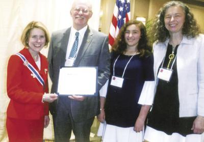Congrats ... Don Shirley of Opelika High School receives award from DAR