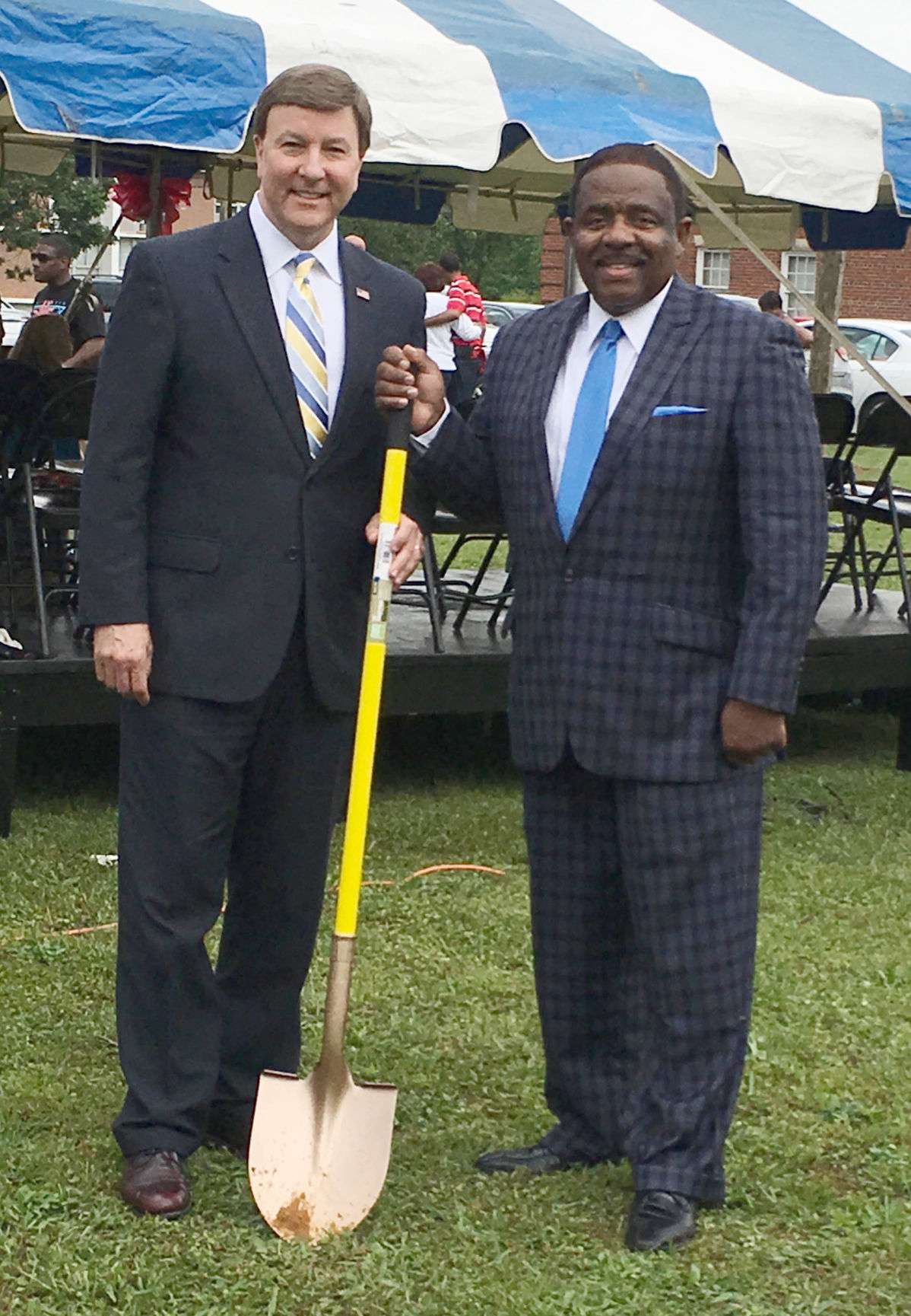 U.S. Rep. Mike Rogers, Dr. Billy Hawkins at Friday's groundbreaking ceremony