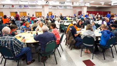 Crowd shows for Kiwanis pancakes, even with time change