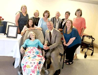 Judson College officials, alumnae help Tommie Louise Caudle celebrate 100th birthday