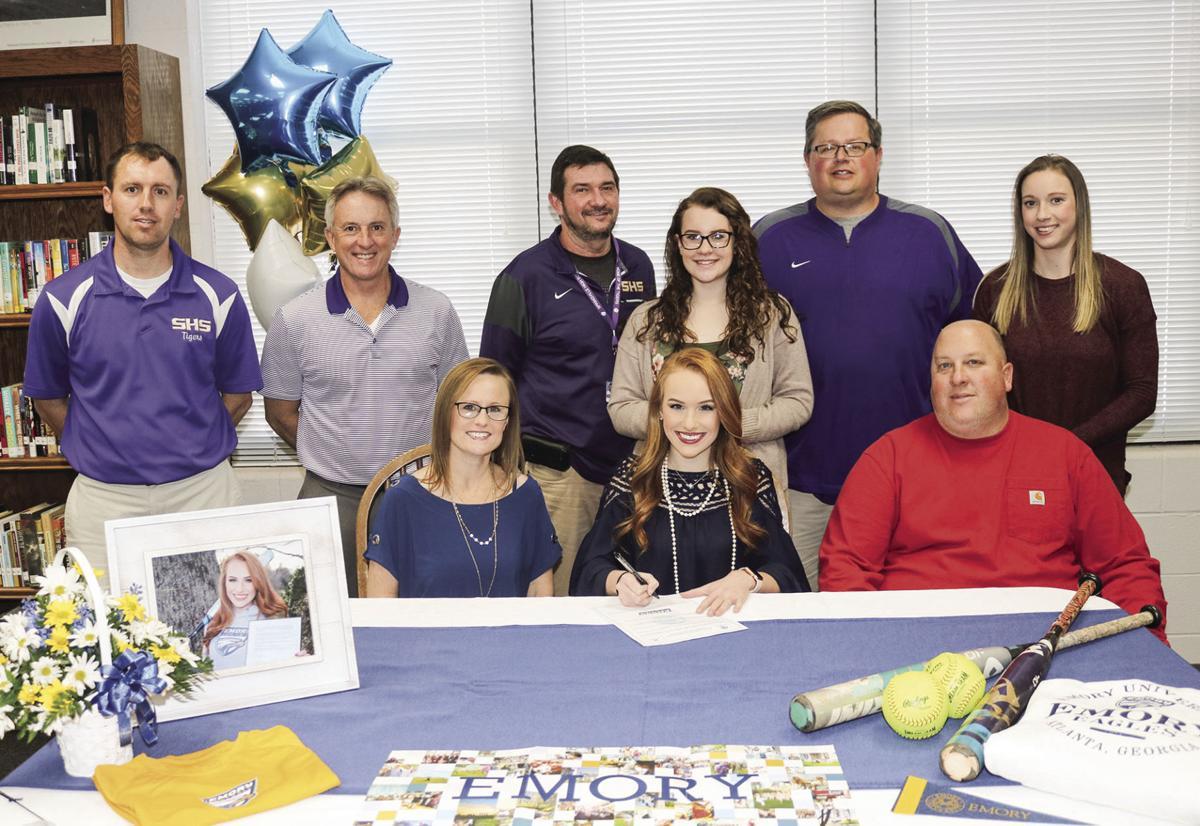 Mallory Nolen signs softball scholarship