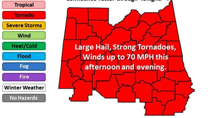 ALERT St Clair Talladega schools closing early today due to