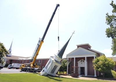 Golden Springs Baptist removes steeple