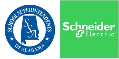 Logos for School Superintendents of Alabama and Schneider Electric