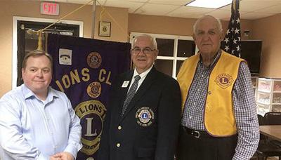 Vice District Governor speaks to Talladega Lions Club