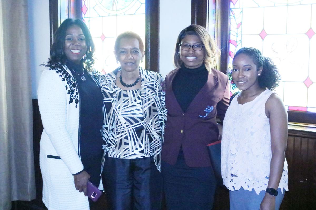 Dr. Karen Brown, Ms. Sarah Stinson, scholarship recipient Ivree Datcher, and Dr. Vandrea Watts..JPG