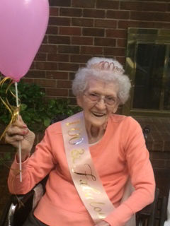 Congrats ... Eunice Roberts (Williams) Bittle celebrated 100th birthday in November