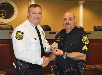Eddie Branham promoted to sergeant