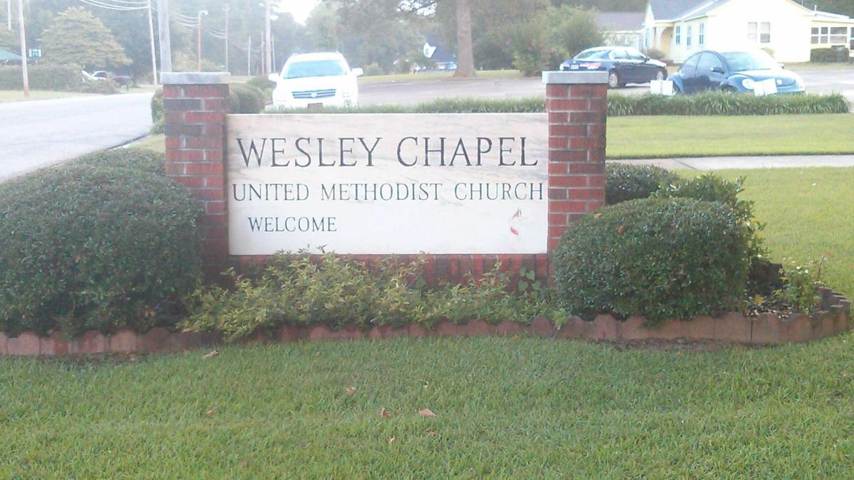 Sign for Wesley Chapel United Methodist Church