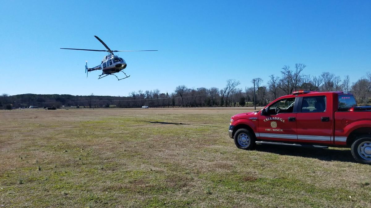 Life Saver helicopter transports victim to UAB following car vs. pedestrian collision Monday