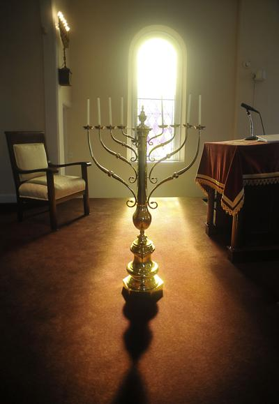 The menorah at Temple Beth El in Anniston