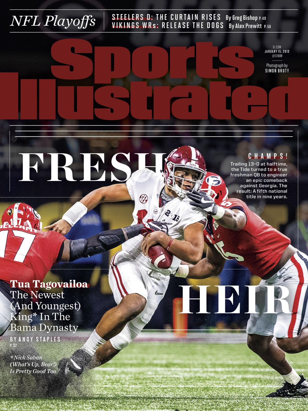 Sports Illustrated Cover Book : Alabama football si puts tide championship on its cover