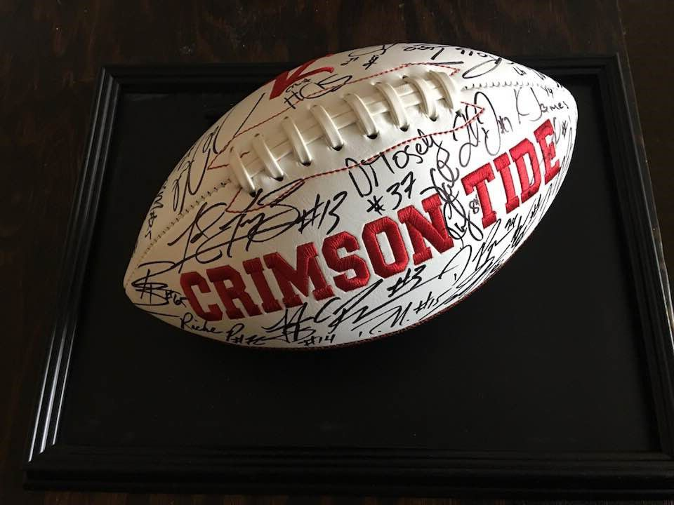 Signed Alabama football for Ritz auction