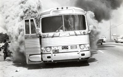 Attack on the Freedom Riders bus