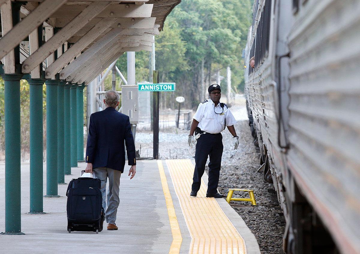 Anniston Amtrak platform