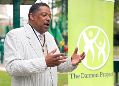 Terry Mosley with the Dannon Project