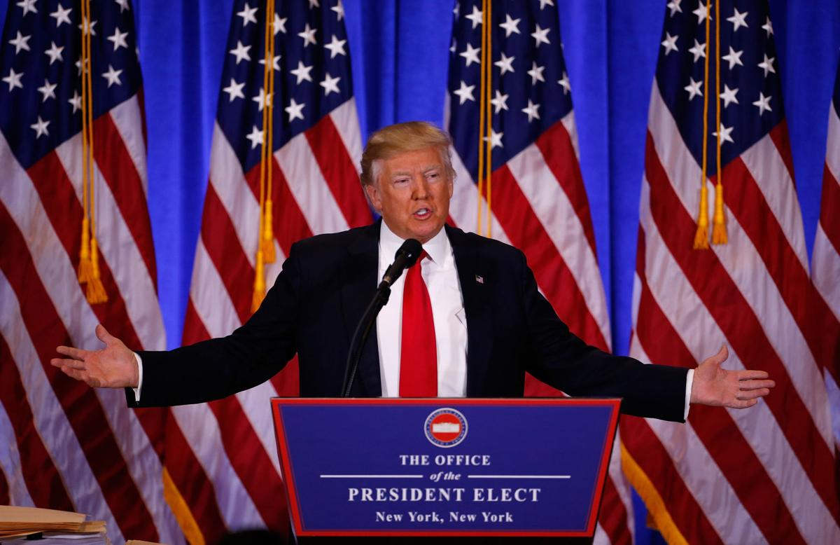 Trump at news conference in New York