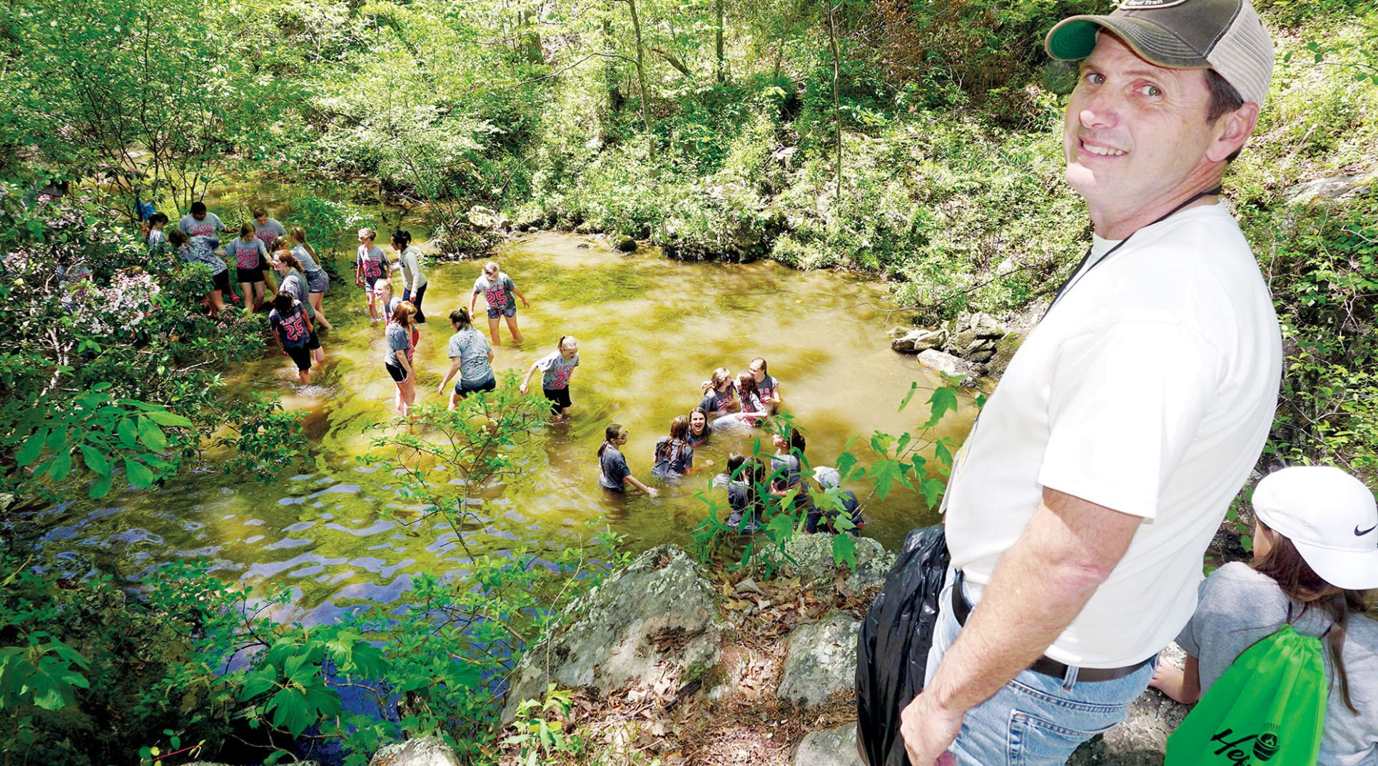 Cleburne 6th-graders help open Pinhoti's spur trail into Heflin