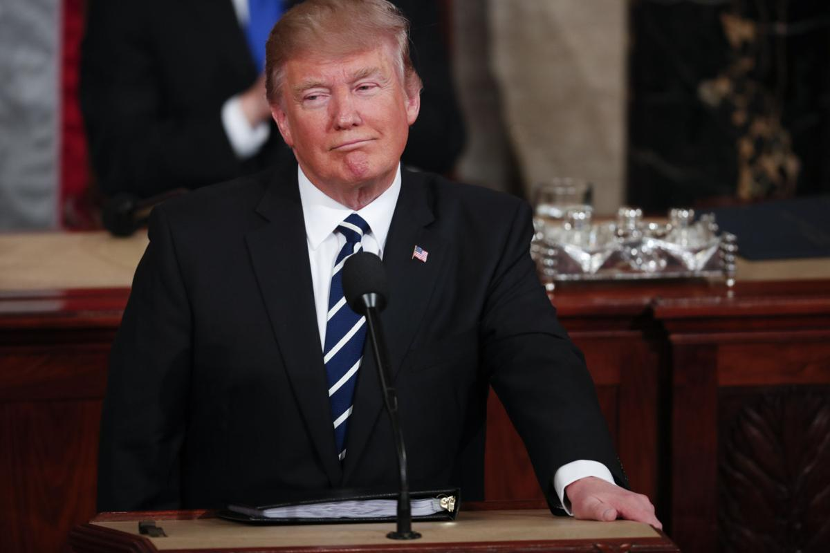 President Trump delivers a speech to Congress