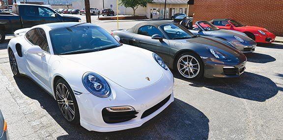 Porsche club rumbles up Cheaha