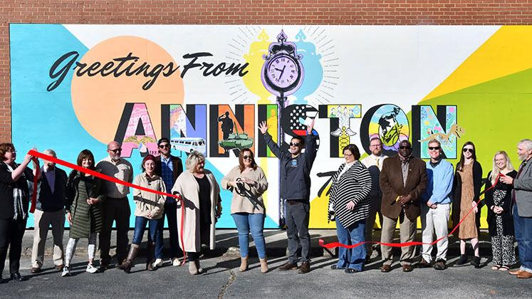 """Photo Gallery: New """"Greetings From Anniston The Model City"""" Mural Unveiling"""