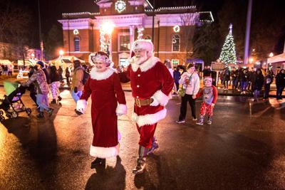 Santa and Mrs. Claus at Christmas on the Square