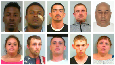 10 arrested on felony drug charges over past week in