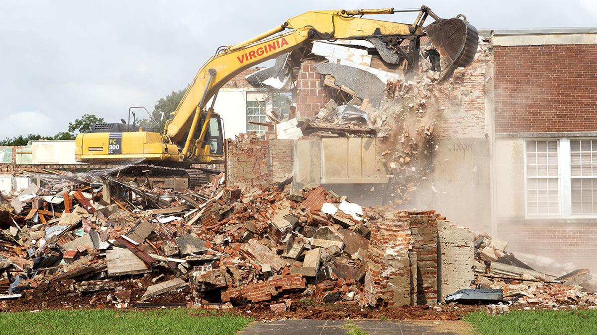 Scenes from demolition of Dixon Middle School (photo gallery)