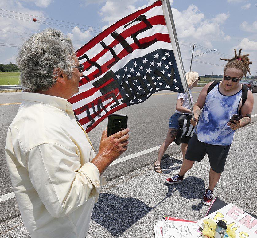 Confederate flag protest