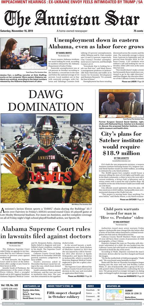 Dawg Domination front page