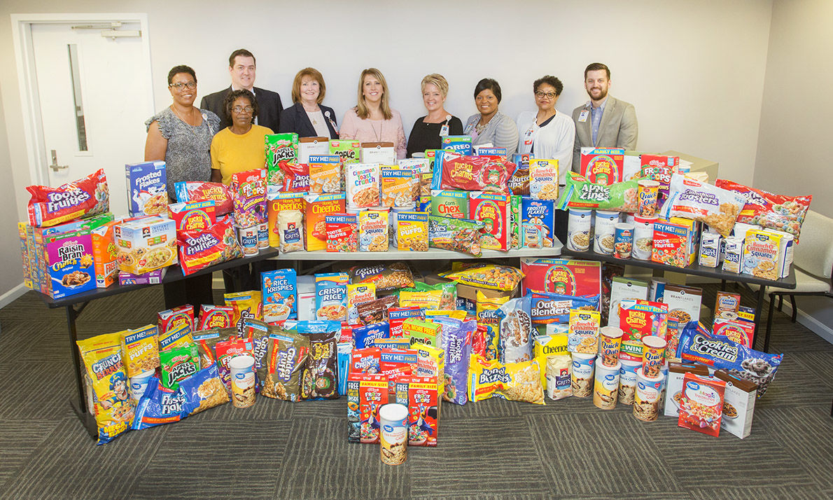 Talladega hospital gathers more than 6,800 pounds of cereal
