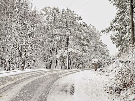 Heavy snow blankets the county