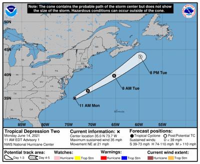 Tropical  depression Bill