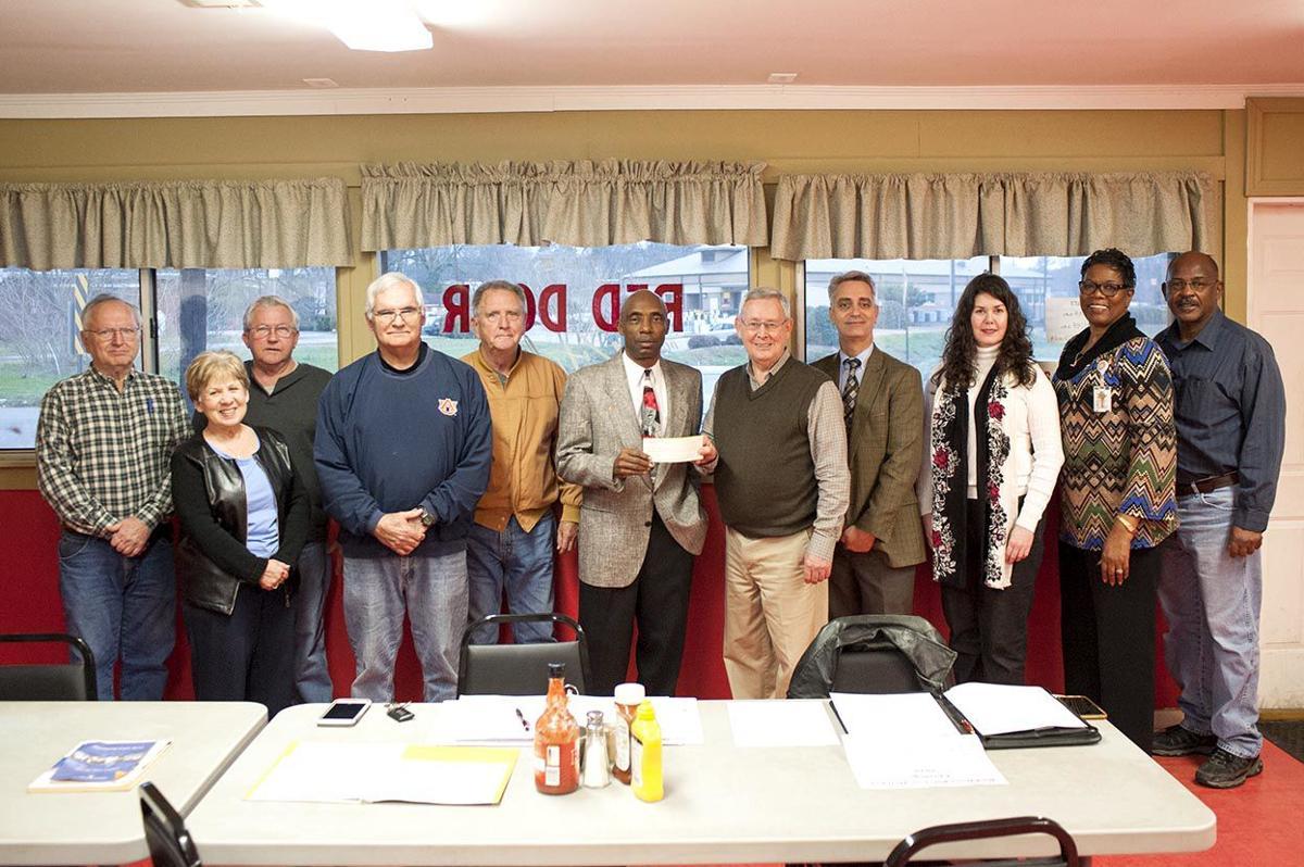 Knoxville Masonic Lodge #650 makes donation to Talladega's Red Door Kitchen