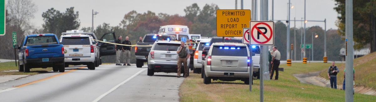 Interstate 20 crime scene BW 01.JPG