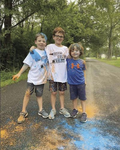 Moody Elementary Principal Lane Cisco's three sons participated in the virtual color run