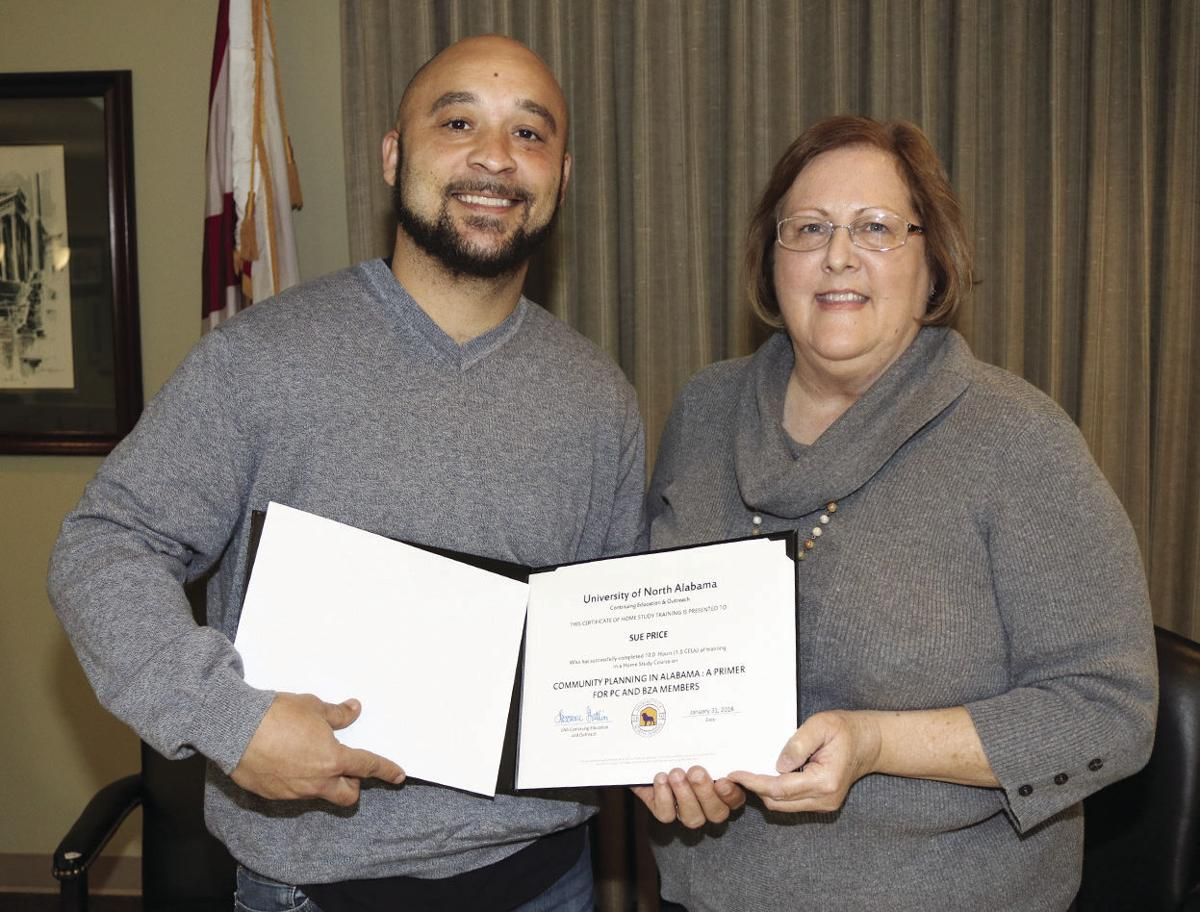 Ashville Councilwoman Sue Price completes training program