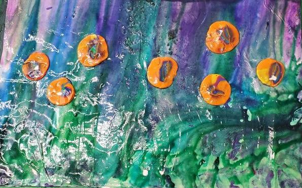 """""""Water Lilies"""" by Taeja Mayes"""