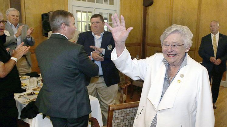 Photos: Alabama Governor Kay Ivey Visits Anniston