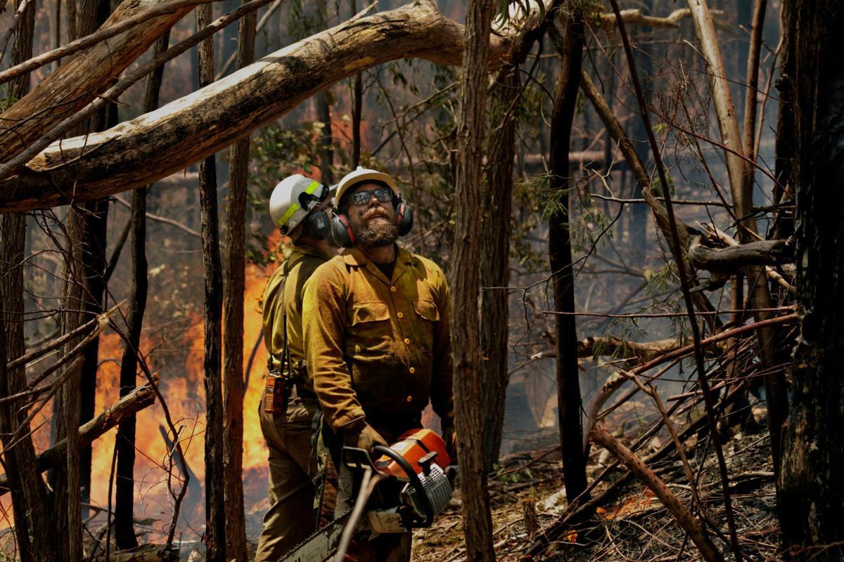 U.S. firefighters in Australia