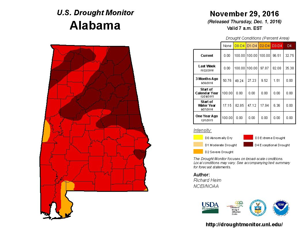 November 29 Drought Monitor