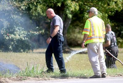 Pell City firefighters extinguish grass fire along US 231