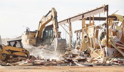 Golden Corral demolition