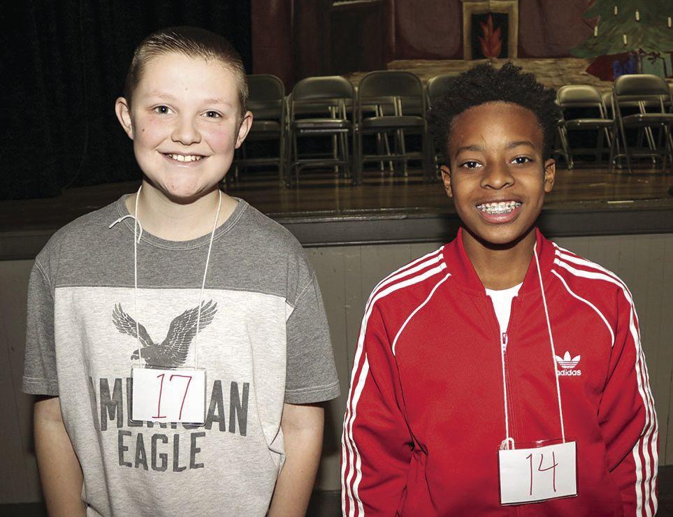 Odenville Middle School Spelling Bee winners