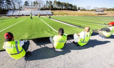 NEW TURF: $600K project underway at Lincoln High football field
