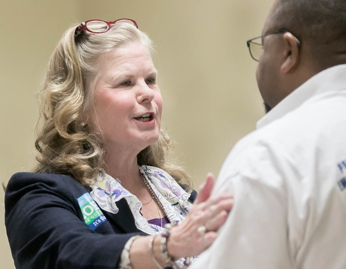 Sue Bell Cobb meets with Talladega County Democrats